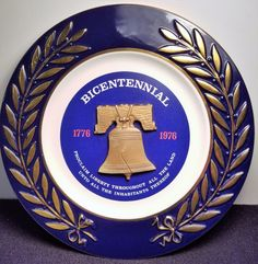 U.S.A - Vintage 1976 - Bicentennial Anniversary 1776 - 1976 - Independence Plate