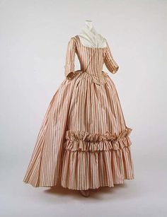 Robe à l'Anglaise  Date: 1785–87  Culture: French  Medium: silk  Dimensions: [no dimensions available]  Credit Line: Purchase, Irene Lewisohn Bequest, 1966  Accession Number: C.I.66.39a, b
