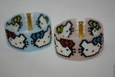 """Браслеты ручной работы. Ярмарка Мастеров - ручная работа. Купить Детские браслеты """"Hello kitty"""". Handmade. Комбинированный, широкий браслет"""