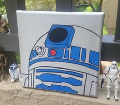 Items similar to Star Wars Canvas Painting on Etsy - Star Wars Paint - Ideas of Star Wars Paint - Star Wars Crafts, Star Wars Art, Stormtrooper Art, Star Wars Zimmer, Star Wars Painting, Star Wars Bedroom, Kids Canvas, Painting For Kids, Painting Inspiration