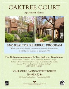 Move-In Specials Apartment Flyer | Apartment Marketing Ideas ...
