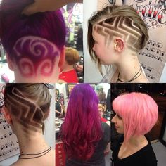 Awesome hair at razordolls @ melbourne #hairtattoo #awesome hair#skullpture hair