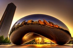 Cloud Gate by Anish Kapoor, Chicago, USA.