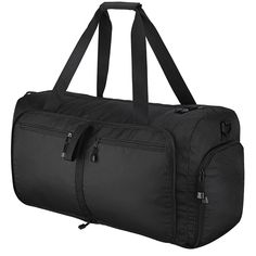 OMorc Travel Duffel Bag, Large Foldable Sports and Gym Duffle Bag,  Water-Resistant Travel Bag with Removable Shoulder Strap for Women and Men  - Black be1f254011