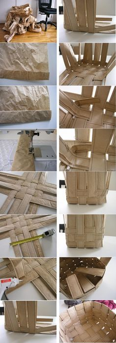 Cesta de Papel Recycling, Canning, Toys, Ideas, Paper Basket, Craft, Hampers, Paper Crafting, Paper Envelopes