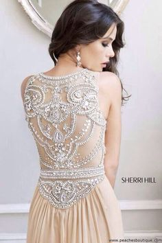 Crystal , jewlwed embellished back net piece of dress