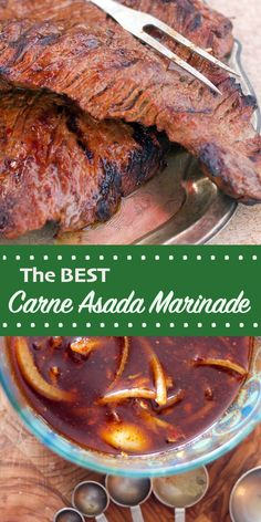 Mexican Carne Asada Marinade Get ready to make the best Carne Asada you've ever had. It all starts with this amazing Mexican Carne Asada Marinade. So grab some skirt steak and let's go! Carne Asada Marinade, Meat Marinade, Carne Asada Steak, Marinade For Skirt Steak, Mexican Steak Marinade, Flank Steak Tacos, Skirt Steak Recipes, Steak Marinade Recipes, Marinated Flank Steak