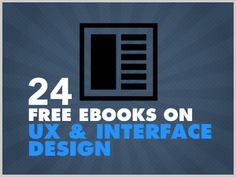 Download Free Ebooks, Legally » 24 Free Ebooks On UX And Interface Design