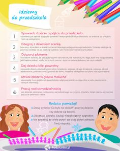 BLOG - Pierwsze dni w przedszkolu. Jak uniknąć stresu i nerwów? - RODZICOWO.PL Kids And Parenting, Kids Learning, Your Child, Montessori, Hand Lettering, Kindergarten, Teacher, Education, Children