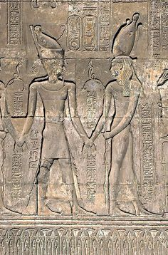 Egyptian relief at Esna Temple.