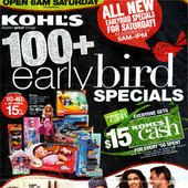 Kohl's Early Bird Special 2012
