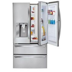 LG Electronics 30.3 cu. ft. French Door-in-Door Refrigerator in Stainless Steel-LMX30995ST at The Home Depot