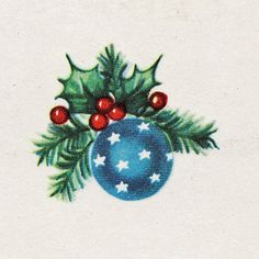 vintage christmas card ~ ornament