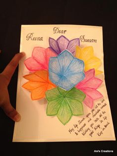 Exploring Myself: 3D flower pop up Greeting card