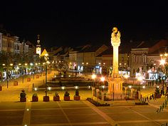 Szombathely -Holy Trinity column in the Main Square Poland, Dolores Park, Journey, Landscape, Country, City, Places, Travel, Atkins