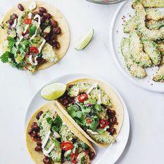 New Post! Coconut Crusted Avocado & Bean Tacos + Kiwi Salsa & Cashew Lime Cream, created in partnership with @zesprikiwifruit. It's on the blog today and it's really tasty!  #sponsored #Zespri4Life  ww.thegreenlife.ca // Nouveau Post! Tacos aux haricots, avocat croustillant à la noix de coco, crème de cajou à la lime & salsa de kiwi, créé en collaboration avec @zesprikiwifruit. C'est sur le blogue aujourd'hui!  www.thegreenlife.ca/fr