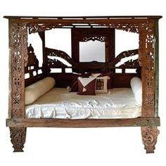 Classic Indonesian Teak Bed
