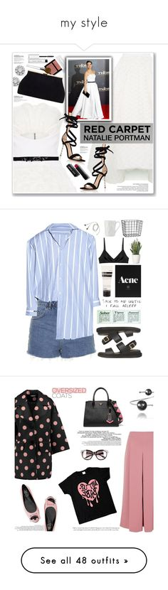 """""""my style"""" by borteljosef ❤ liked on Polyvore featuring Maticevski, Bobbi Brown Cosmetics, Roberto Coin, MSGM, Gianvito Rossi, Clinique, Topshop, Vetements, Araks and PLANT"""