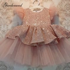 Baby Girl Birthday Dress, Baby Girl Party Dresses, Little Girl Dresses, Toddler Girl Dresses, Flower Girl Dresses, Flower Girls, Girls Dresses, Kids Dress Wear, Kids Gown