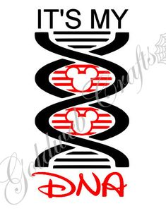 I'm sure it is!.......It's My DNA....... Mickey Mouse Disney Addict Car Decal by GoldWebCrafts, $5.00