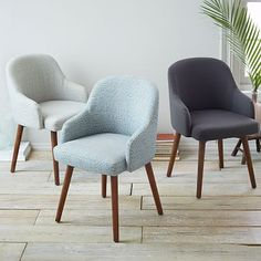 Saddle Dining Chairs #westelm --possible solution for dining/office issues?
