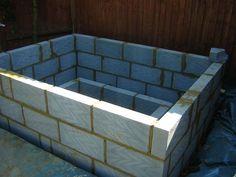 home made hot tub cynder blocks - Google Search