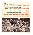 1966 CLEVELAND BROWNS FOOTBALL ADVERTISING TICKET FORM - JIM BROWN ON COVER - 1966, Advertising, Brown, Browns, Cleveland, Cover, FOOTBALL, FORM, ticket