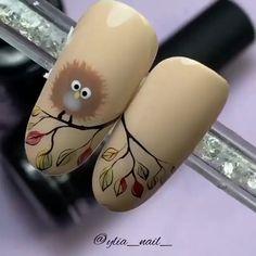Pretty Nail Art, Cute Nail Art, Beautiful Nail Art, Cute Nails, Nail Art Designs Videos, Nail Design Video, Nail Art Videos, New Nail Art, Fall Nail Art