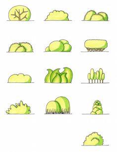Desenho do Dia #176 - Arbustos: folha de cola - Soraia Casal