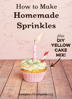 Here's an all natural recipe for homemade sprinkles – no artificial food coloring. They're easy, they're definitely fun, and they add a certain je ne sais quoi to cakes, cupcakes, and other festive foods.