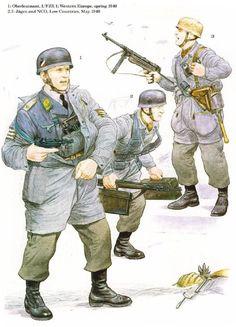 1: Teniente coronel, 1er Batallón, 1er Regimiento Paracaidista; oeste de Europa…