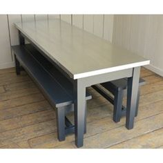 Bespoke Natural Zinc Kitchen Table With Benches - Kitchen Table Bench, Table And Bench Set, Dining Bench, Cast Iron Radiators, Architectural Antiques, Benches, Dining Area, Bespoke, Architecture