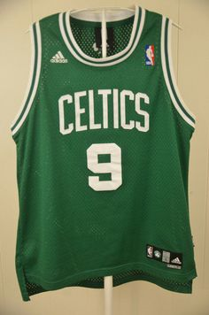 Authentic Adidas Boston Celtics Jersey  9 Rajon Rondo NBA Kids Large 14-16  Sewn 312154216