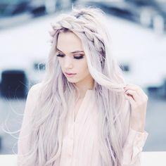 Kirsten Zellers on Instagram.  Key words: blonde platinum silver white hair braid long hair