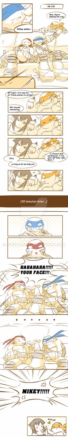 Karai and her turtle brothers' life (1) by owiyalight on DeviantArt