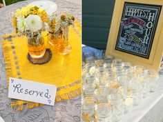 Handcrafted Oregon Wedding - perfect! I guess it's necessary to have tags on glasses? It seems unecessary to me, but then I am the antithesis of germophobic.