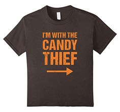 [Fun Couples Halloween Costumes] Kids Halloween Couples Costume Shirt I'm With The Candy Thief 8 Asphalt *** You can find out more details at the link of the image. (This is an affiliate link) Halloween Couples, Couple Halloween Costumes, Halloween Kids, Hallowen Costume, Costume Shirts, Costumes Kids, Branded T Shirts, Fashion Brands, Candy