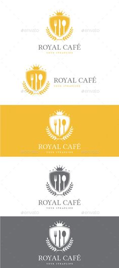 Buy Royal Cafe Logo by creativebeat on GraphicRiver. A clean and simple icon based crest logo ideal for a professional, regal, luxury, high end food company and store, or. Create Logo Design, Custom Logo Design, Typography Logo, Lettering, Logo Ad, Cafe Logo, Crest Logo, Simple Icon, Flower Logo
