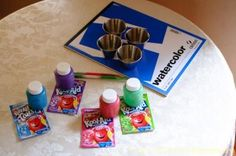 Scratch and sniff painting (with Kool-Aid!)