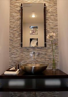 Modern Powder Room Small Bathroom Design, Pictures, Remodel, Decor and Ideas