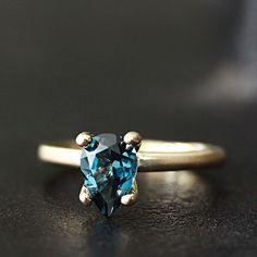 14k london blue topaz ring