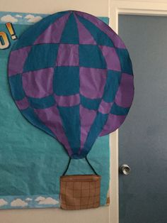 Preschool, Sky VBS, hot air balloons, classroom decorations,