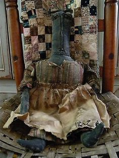 PRIMITIVE-OOAK-FOLK-ART-DOLL