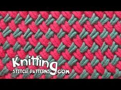 Watch video to learn how to knit the Two color Woven Plait stitch. + Techniques used in this pattern: Knit: K   Purl: P   Slip stitch purlwise: SL With yarn ...
