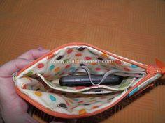 stacked pocket wristlet