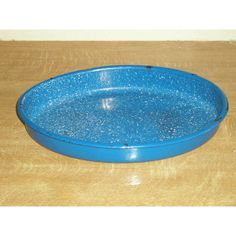 Lovely Vintage French Blue Enamel Roasting Pan Listing in the Enamelware,Kitchenalia,Collectables Category on eBid United Kingdom | 153196497