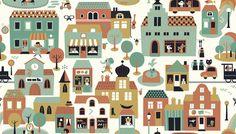 Town - Green - Fototapeter & Tapeter - Photowall