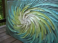Abstract Painting 52 x 26 Original Custom Heavy by artoftexture