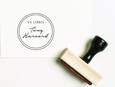 Ex Libris Rubber Stamp From the Library of Stamp  by TheStampPress