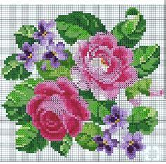 quilting like crazy Cross Stitch Rose, Cross Stitch Flowers, Cross Stitch Charts, Cross Stitch Patterns, Cross Stitching, Cross Stitch Embroidery, Hand Embroidery, Embroidery Patterns, Pixel Crochet